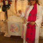 Kimberly reading Rosary